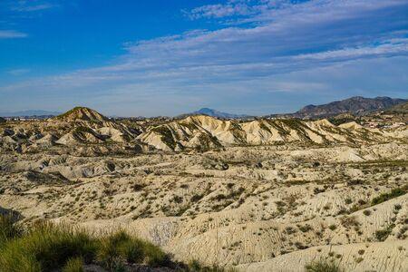 The Badlands of Abanilla and Mahoya in the Murcia region in Spain