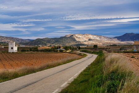 Landscape view in Canada De La Lena, Murcia region in Spain, Europe