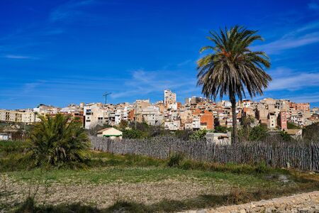 The little village of Abaran in valley ricote, in the Murcia region, Spain