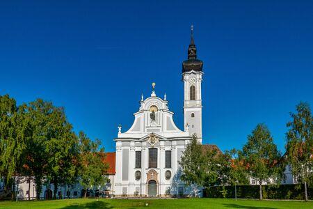 Église baroque Marienmuenster, Diessen, Ammersee, Bavière, Allemagne Banque d'images
