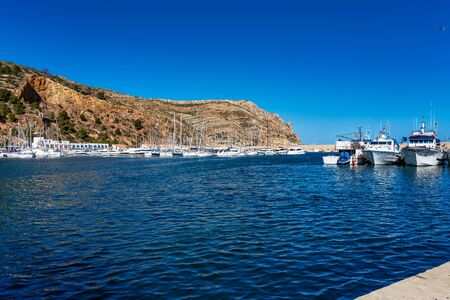 View of Port de Xabia Javea in Spain, Western Europe Stockfoto