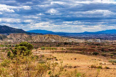 Landscape view of El Chicamo near Murcia in Spain, Europe