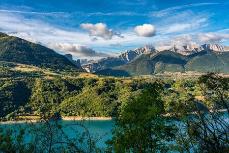 Landscape view at Saint Baudille et Pipet, local authorities association of Trieves in Vercors, French Alps, France in Europe