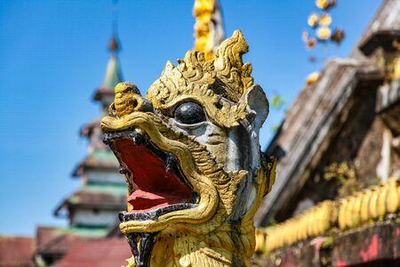 Kyaik Tan Lan or Kyaikthanlan Pagoda in Mawlamyine or Moulmein, Mon State, Myanmar Stockfoto - 146960091