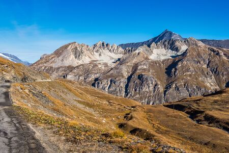 Le fornet mountains near Val dIsere, France - captured from Col de lIseran road. Stockfoto