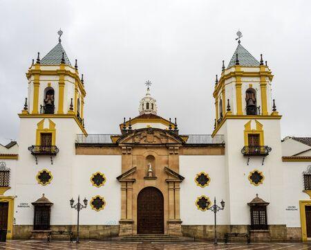 Parish of Nuestra Senora del Socorro on Plaza del Socorro in Ronda. Ronda, Andalusia, Spain. Stockfoto