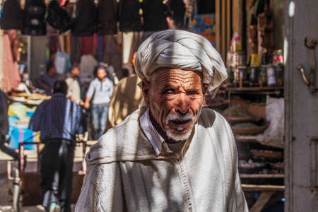 Rissani, Morocco - Oct 18, 2019: local residents of the city Rissani in their activities on the streets of the city. Africa.