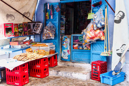 Chefchaouen, Morocco - Oct 14, 2019: Medina of Chefchaouen. Chefchaouen or Chaouen is a city in northwest Morocco. It is noted for its buildings in shades of blue