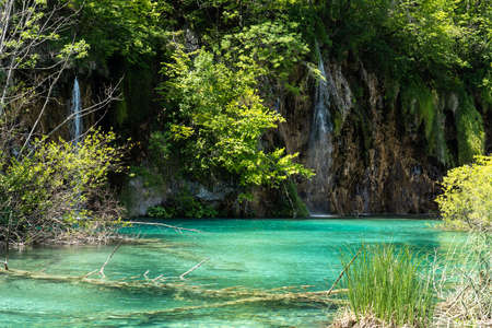 Beautiful landscape in the Plitvice Lakes National Park in Croatia. One of the oldest and largest national parks in Croatia. In 1979 it was added to the register