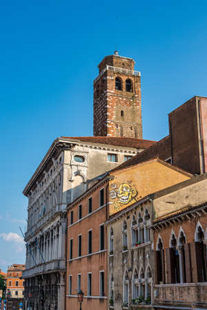 The San Geremia, elegant 18th century church in Venice, Italy. Site of pilgrimage housing the relics of St. Lucy