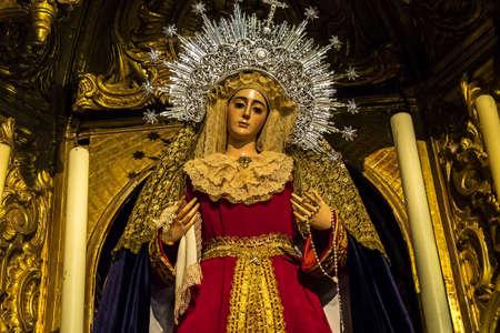 Interior of the Jerez de la Frontera Cathedral, Catedral de San Salvador. Cadiz, Andalusia, Spain Foto de archivo