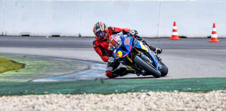 Hockenheim, Germany - June 27, 2019 : Motorcycle race training at Baden-Wurttemberg race Center or Hockenheimring, a motor racing course for people racing and visit at Hockenheim city