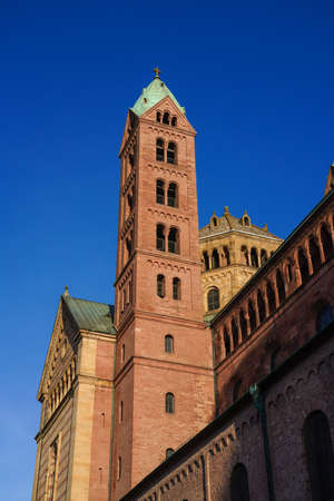 Cathedral in Speyer, Germany. Officially called the Imperial Cathedral Basilica of the Assumption and St Stephen, or short in german Dom zu Speyer