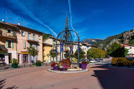 Guillaumes, France - Oct 03, 2020: The village Guillaumes in Gorges de Daluis. Provence-Alpes-Cote d'Azur region of France. Editorial