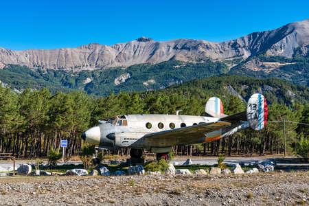 Barcelonnette, France - Oct 01, 2020: Gliding Center Ubaye near Barcelonnette. Barcelonnette is a commune in the Alpes-de-Haute-Provence department in France
