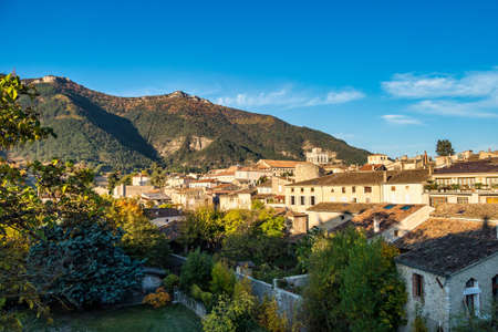 Cityscape of Die, Chatillon en Diois in Vercors Natural Regional Park, Diois, Drome, France in Europe