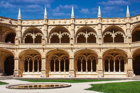 The Hieronymites Monastery, Mosteiro dos Jeronimos is located in Lisbon Portugal.
