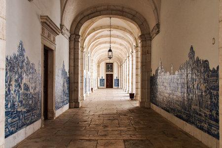 Courtyard at the church of sao vicente de fora in Lisbon, Portugal, Europa