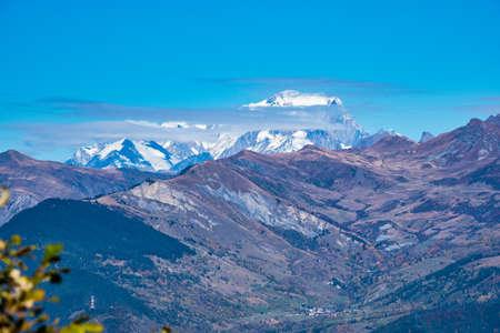 Col de la Madeleine at 2000 m altitude in the Rhone alps, France Imagens