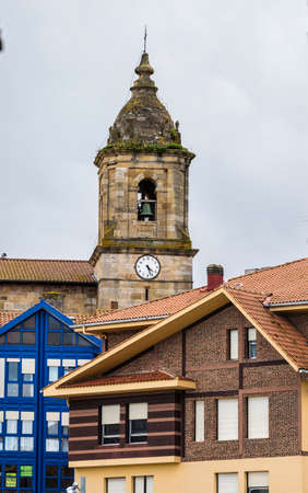 Church in Bermeo. Bermeo is a small fishing village in the Basque Country in Spain