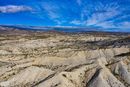 The Badlands of Abanilla and Mahoya in the Murcia region in Spain 免版税图像