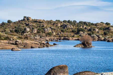 Los Barruecos Natural Monument, Malpartida de Caceres, Extremadura in Spain. 免版税图像