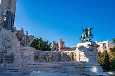 Monumento a la Constitucion de 1812, Cadiz, Andalucia in Spain