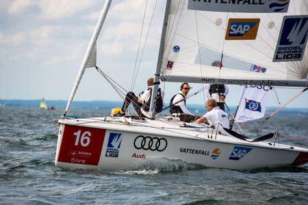 Travemuende, Germany - July 28, 2018 Sailing week in Travemuende Germany Editorial