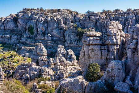 The rocks unique shape is due to erosion that occurred 150 million years ago during the Jurassic age, when the whole mountain was under sea water. Torcal de Antequera