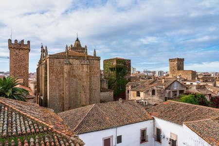 Saint Matthew Church, Iglesia de San Mateo in Caceres, Extremadura Region , Spain Stockfoto