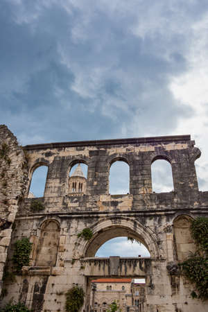 Silver gate, east entrance of the Diocletian s Palace at Split in Croatia