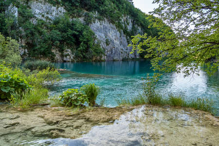 Beautiful landscape in the Plitvice Lakes National Park in Croatia. One of the oldest and largest national parks in Croatia. In 1979 it was added