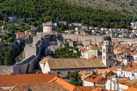 St. Saviour Church, Church of Holy Savior and Franciscan Monastery Crkva sv. Spasa - a small votive renaissance church located in the old town of Dubrovnik, Croatia Stockfoto