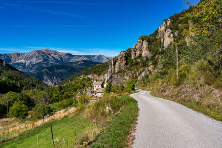 Panoramic view of the Mercantour National Park near Valberg, French Alps, France in Europe Stockfoto