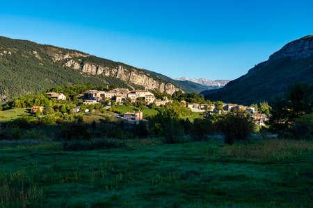 Village of Saint Julien du Verdon at Lac de Castillon in Provence, France.