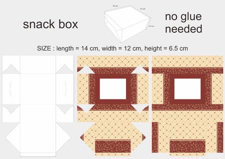 6 12: Brown Snack Box 12 x 14 x 6,5 cm