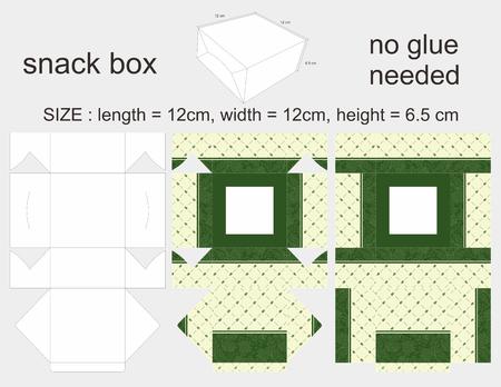 6 12: Green Snack Box 12 x 12 x 6,5 cm Illustration