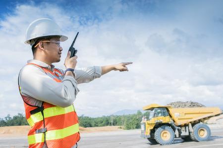 overburden: mine engineer Stock Photo