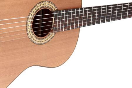 escarapelas: Guitarra acústica en el fondo blanco