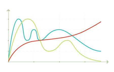 Affaires éléments du marché des données dot camemberts à barres diagrammes et graphiques icônes plates définies isolé illustration vectorielle. Banque d'images - 68721956