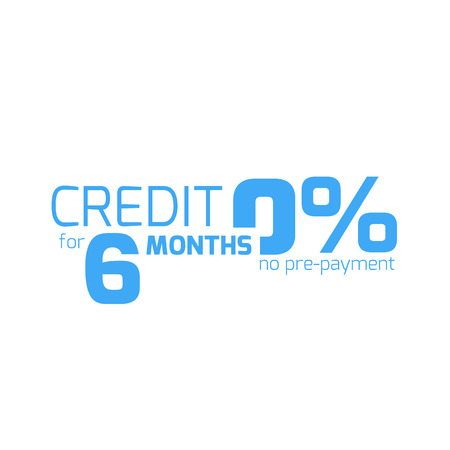 Free credit typography, 6 months credit free. Finance business concept Vector Illustration