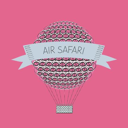air baloon: air baloon. Air safari. vector illustration