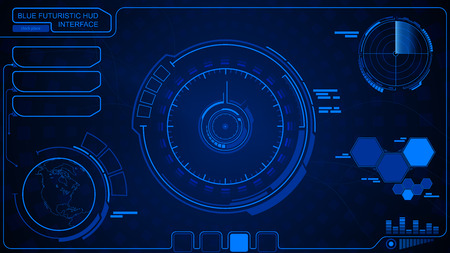 Abstract future, concept vector futuristic blue virtual graphic touch user interface HUD. Connection structure. Vector science background. Futuristic HUD background. Sci fi futuristic user interface.