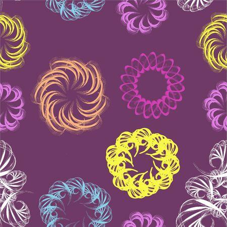 Abstract swirl retro seamless pattern. Vector illustration