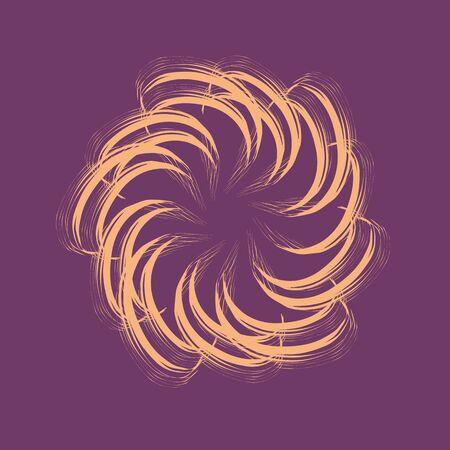 Abstract swirl retro pattern. Vector illustration on purple background