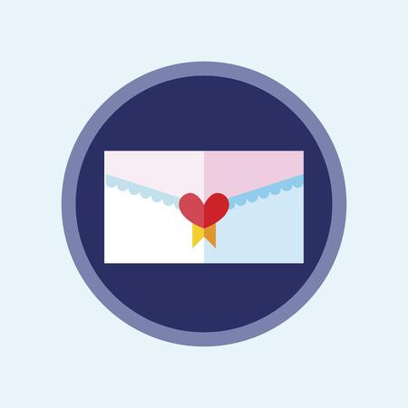 love letter icon romantic symbol. Vector Illustration. Ilustração