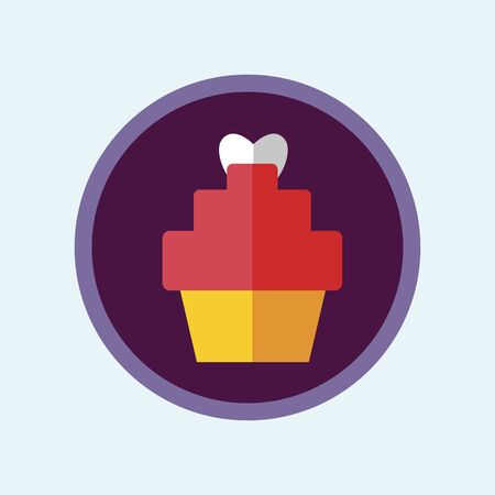 Muffin Vector Illustration. Flat Colorful cupcake Icon