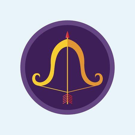 Bow flat icon. Flat romantic symbol Vector Illustration