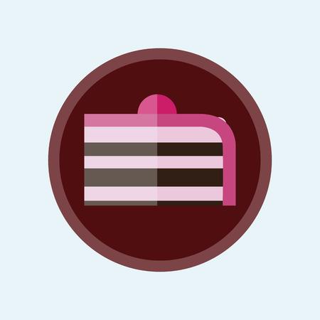 flat cake icon romantic symbol. Vector Illustration Ilustração