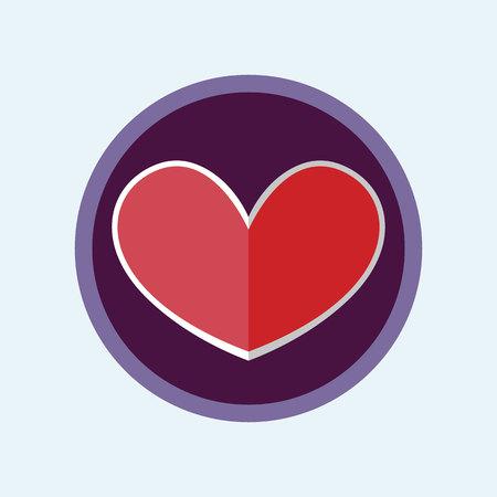 Vector Illustration romantic Heart symbol. Colorful Icons. Ilustração